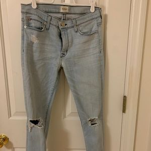 Womens Size 27 Hudson Jeans Light-wash Midrise